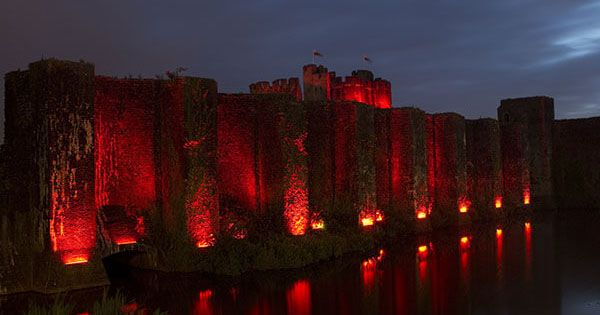 CADW Site turns red for Euro 2016