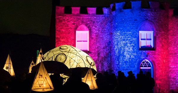 Outdoor Lights event west wales