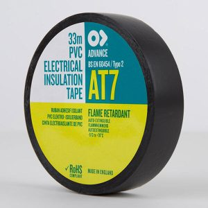 Advance AT7 PVC Electrical Insulation Tape 19mm Black