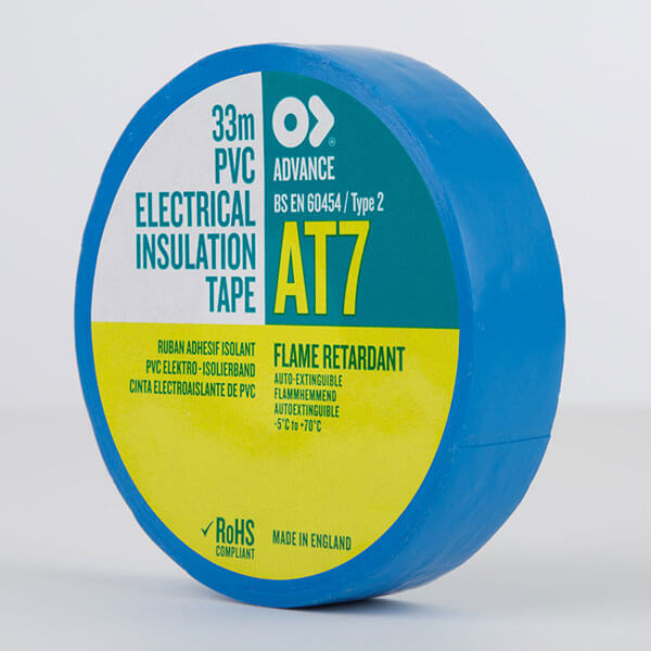 Advance AT7 PVC Electrical Insulation Tape 19mm Blue