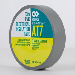 Advance AT7 PVC Electrical Insulation Tape 19mm Grey