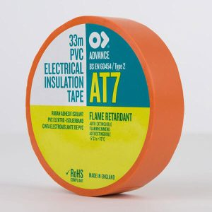 Advance AT7 PVC Electrical Insulation Tape 19mm Orange