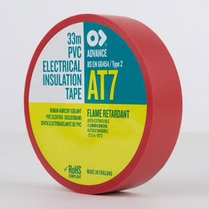 Advance AT7 PVC Electrical Insulation Tape 19mm Red