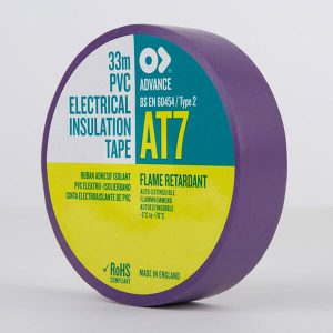 Advance AT7 PVC Electrical Insulation Tape 19mm Violet