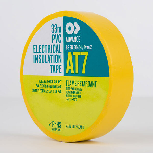 Advance AT7 PVC Electrical Insulation Tape 19mm Yellow