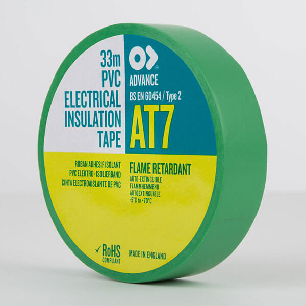 Advance AT7 PVC Electrical Insulation Tape 19mm Green