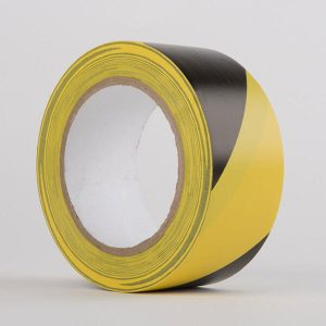 Hazard PVC Tape Black Yellow