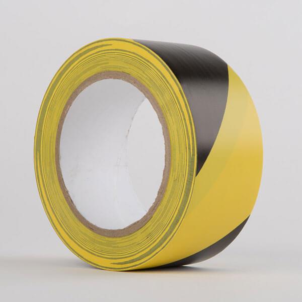 Hazard PVC Tape Black Yellow