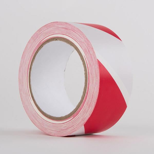 Hazard PVC Tape Red White