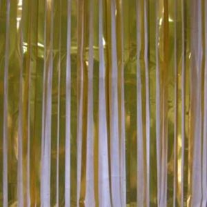 Slash Shimmer Curtain Gold