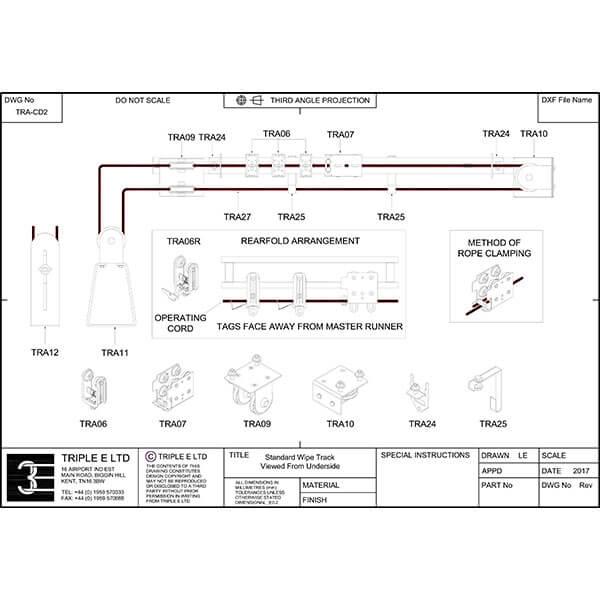 Triple E UniTrack Wipe Kit