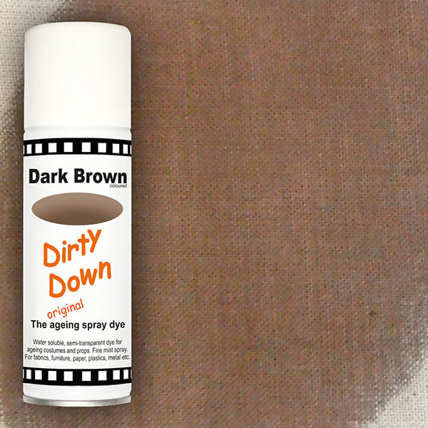 dirty down product dark brown ageing spray