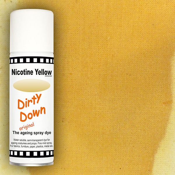 dirty down product nicotine yellow ageing spray