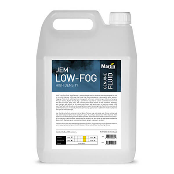 jem low fog fluid high density