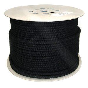 Black Braided Polyester Robe 6mm