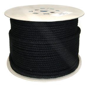 Black-Braided Polyester Robe 8mm ROP052M