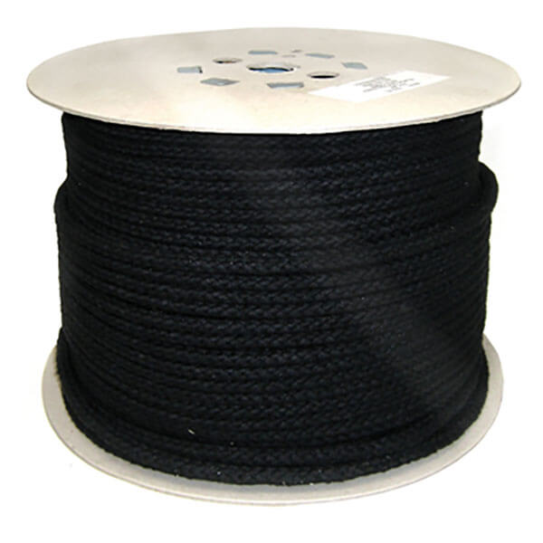 Black-Braided Polyester Robe 8mm ROP052M