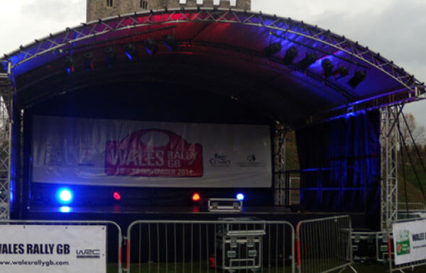 Wales GB Rally 2014 Canopy Stage Cardiff Castle